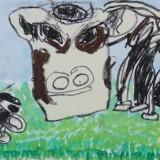 「大きな牛」佳作 中島 広樹木野東小学校