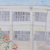 「花と校舎」佳作 福地 沙雪西中音更小学校