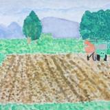 「ふるさと農村絵画」佳作 吉田 京香音更小学校