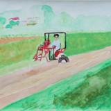 「農村の風景 」金賞 玉田 美咲 下士幌小学校