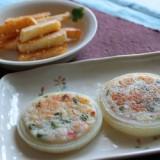 フライドポテトの粉チーズ和え・玉ネギのヘルシー焼き