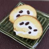 甘納豆ロールケーキ