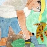 「にんじんの収穫」佳作 水上 流暢東士幌小学校