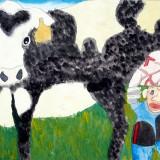 「牛のさく乳」佳作 倉島 一實下士幌小学校