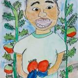 「おいしそうなトマト」佳作 山本 義貴東士幌小学校1年