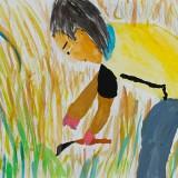 「そばの収穫」佳作 小竹 皇歌昭和小学校5年