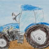 佳作「トラクターの絵」音更小学校 1年川岸モカ