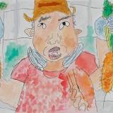 佳作「にんじんがとれたよ!」東士幌小学校 1年菊池朋輝