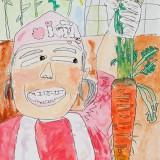 銀賞「大きなにんじんうれしいな!」東士幌小学校 1年山田笑莉奈