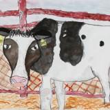 金賞「牛となかよし」東士幌小学校 2年大塚麻央
