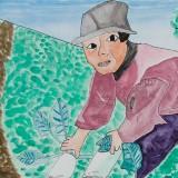 佳作「大根ぬき」東士幌小学校 4年恩田旭