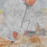 金賞「大豆をとる人」昭和小学校 5年松田黎音