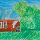 佳作「十勝牧場の風景」音更小学校 6年須藤桃加