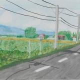 佳作「農村の風景」東士幌小学校 6年山本妃笑