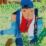 「枝豆の収穫」佳作 北川 大雅東士幌小学校1年