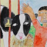「牛さんかわいいね!」佳作 山田 笑莉奈東士幌小学校2年