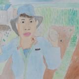「がんばった畑仕事」佳作 三浦 拓郎昭和小学校4年