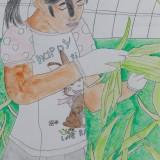「トウモロコシを採りましょう!」佳作 松田 黎音昭和小学校6年
