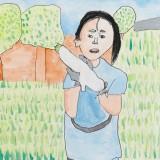 「野菜のしゅうかく」菊地 彩東士幌小学校
