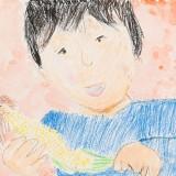 「とうもろこしのかわむき」銀賞 山口 輔音更小学校