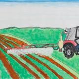 「がんばっているトラクター」水上 美來東士幌小学校