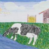 「水を飲む牛」下平 里華緑陽台小学校