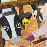 「牛にえさをやるわたし」金賞 真柄 胡幸南中音更小学校