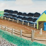 「南中の農村風景」西島 平恵南中音更小学校